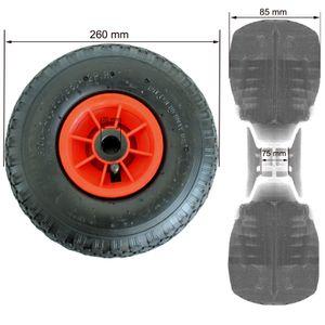 Sackkarrenrad 3.00-4 260x85 Bollerwagenrad Luftrad Ersatzrad 4PR mit Kugellager