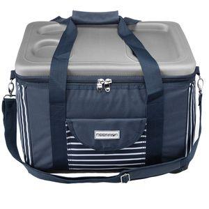 anndora Kühltasche XL 40 Liter - blau-weis-gestreift