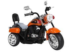 Kinder Motorrad Chopper FX Trike Orange elektrisch Elektromotorrad ab 3 Jahren mit Licht und Sound