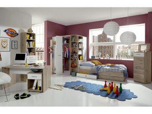 Jugendzimmer Joker in Eiche San Remo und Weiß