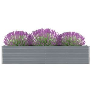 Garten-Hochbeet Verzinkter Stahl 320×40×45 cm Grau