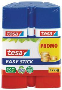 tesa ecoLogo Easy Stick Klebestift lösungsmittelfrei Promo-Pack 3 x 25 g