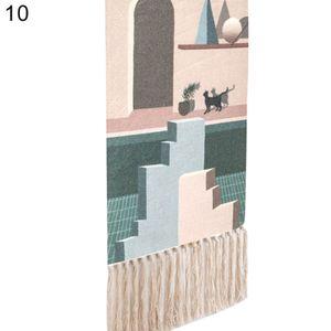 Boho Baumwolle Leinen Quaste Wandteppich h?ngen Anh?nger Bild Home Hotel Wanddekoration 10 #