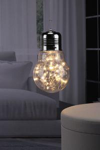 Glühbirne mit Lichterkette 30 LEDs für Innen Dekoration Glühlampe 6/18 h Timer