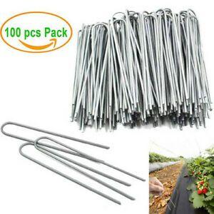 100er Set Erdanker Stahl Bodenanker für Zeltheringe Unkrautvlies Gartenvlies Zeltnagel