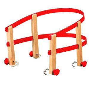 Colint Schlittenlehne aus Kunststoff und Holz Rückenlehne Schlitten Kindersitz, Farbe:rot
