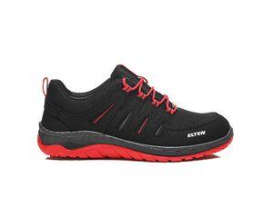 Elten MADDOX S3 Black-Red low ESD, Farbe:schwarz, Schuhgröße:44 (UK 9.5)