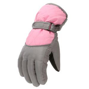 Winterhandschuhe für Kinder Jungen Mädchen Schnee Winddichte Fäustlinge Outdoor-Sport Skifahren FWT201029005 Größe:Einheitsgröße,Farbe:Rosa