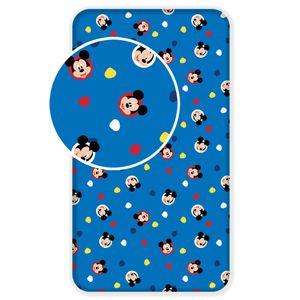 Spannbetttuch Disney Micky Maus Mickey Mouse blau 90x200 Laken Bettlaken Spannbettlaken