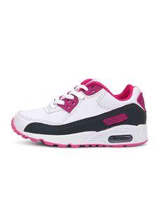 Abtel Kinder Jungen Und Mädchen Outdoor Casual Turnschuhe Mode Flache Turnschuhe,Farbe: Weiß-Pink,Größe:28