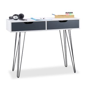 relaxdays Schreibtisch mit Schubladen
