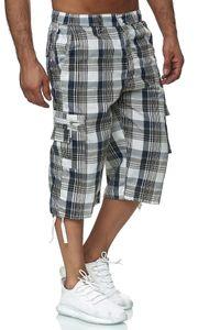 Herren Basic Cargo Shorts kurze luftige Bermuda Sommer 3/4 Hose, Farben:Grün, Größe Shorts:M