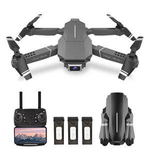 E98 RC-Drohne mit Kamera 4K-Drohne Doppelkamera RC Quadcopter WiFi-FPV-Drohne Headless-Modus Höhenhalteste Geste Fotospur Flug 3D-Filp-Faltdrohne