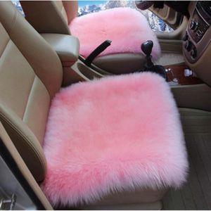 45cmx45cm Lammfell Schaffell Sitzkissen Stuhlauflage Sitzauflage für Wohnzimmer Rosa