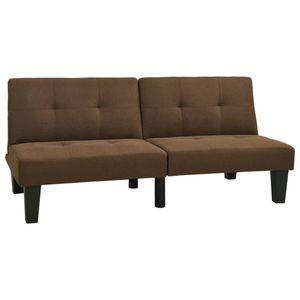CHIC® Schlafsofa im skandinavischen Stil| Polstersofa Bettsofa Lounge Sofa für Wohnzimmer Braun Stoff Größe:162 x 88 x 36 cm※7778