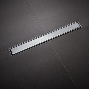 60cm Duschrinne Edelstahl Ablaufrinne Bodenablauf Duschablauf Komplettset 360° Ultra Flach
