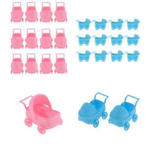 24pcs Plastikkinderwagen Lastwagen Bevorzugt Babyparty Dekor 3 \'\'Rosa + Blau