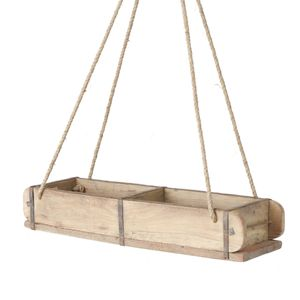 Deko Hängeregal in Ziegelform - recyceltes Holz - ca. 58 cm
