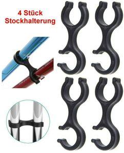 GKA 4 Stück Clip Stockhalter Klammer Halter Wandern Nordic Walking Stöcke Stock
