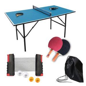 2 Tischtennisschläger 4 Bälle Ausziehbares Tischtennis Schläger Set Erweiterbares Netz
