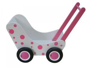 Van Dijk Toys puppenwagen Punkte 56 cm weiß/rosa