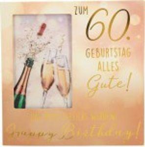 Geburtstagskarte Klappkarte 3D mit Musik & Licht Zum 60. Geburtstag alles Gute! Das...