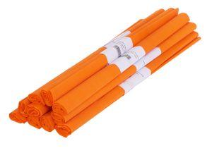 VBS Krepppapier, 50 x 200 cm, 10 Rollen Orange