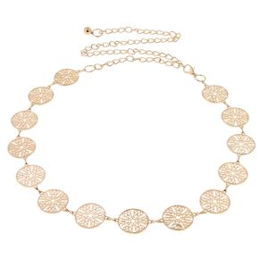Damen Metall Gürtel Waist Belt Dekoratives Golds Taillengürtel Hüftgurt Kleidgürtel Bund Ketten Gürtel