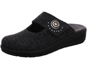 Rohde Damen Hausschuhe Pantoffeln Filz Catania 6169, Größe:39 EU, Farbe:Grau