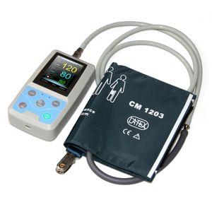 CONTEC PM50 Ambulantes Blutdruckmessgerät Handheld 24-Stunden-Patientenmonitor NIBP SPO2 PR, USB + PC-Software