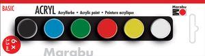 "Marabu Acrylfarben-Set ""BASIC"" 6 x 3,5 ml"