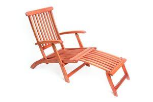 Merxx Deckchair, klapp- und verstellbar - Farbe: braun - Maße: 114 cm x 58 cm x 92 cm; 25140-011