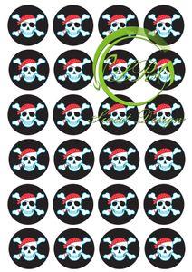 Piraten №2 24 Muffinaufleger, Tortenaufleger,Geburtstag,Tortendeko