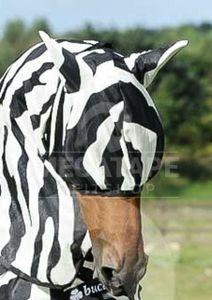 Bucas Fliegenmaske Zebra für die Buzz off Zebra Fliegendecke 135 M