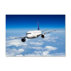 Tulup® Leinwandbild - 100x70 cm - Wandkunst - Drucke auf Leinwand - Leinwanddruck  - Fahrzeuge - Blau - Flugzeug