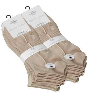 """Vincent Creation® Sneaker Socken 8 Paar, """"STREET WEAR"""" 43-46 beige"""