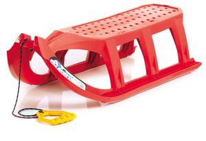 Prosperplast Kinderschlitten Ist Rodelschlitten Rennschlitten Bob Kunststoff , Farbe:rot