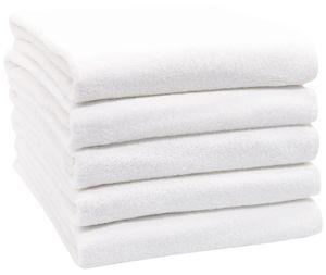 Badetücher 5er Set, 100x150 cm, weiß, Baumwolle