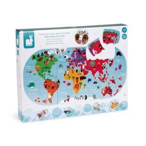 Janod Bath Explorers Map Multicolor 3-99 Years