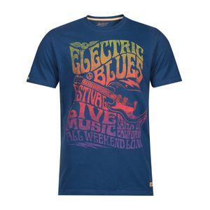 XXL Redfield T-Shirt indigoblau Hippie Vintage Print, Größe:8XL