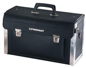 PROMAT Werkzeugtasche Rindleder Doppelwand HDPE 420x160x250mm Alu.verstärkt