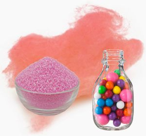 Aromazucker für bunte Zuckerwatte mit Geschmack | Bubble Gum - Rosa / Pink 100g | Farbzucker Zucker für Zuckerwatte Zuckerwattemaschine Zuckerwattezucker