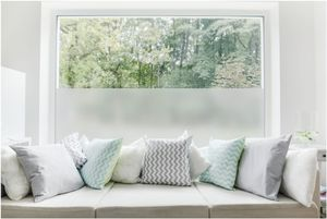 TEXMAXX Milchglas Fensterfolie Sichtschutz - 90cm x 100cm - SF01 ohne Design - blickdicht statisch selbsthaftende Milchglasfolie Sichtschutzfolie