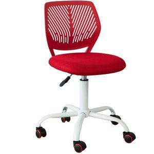 SoBuy FST64-R Schreibtischstuhl Kinder Jugenddrehstuhl Drehstuhl Bürostuhl mit Rücklehne Arbeitsstuhl höhenverstellbar Rot Sitzhöhe: 46-58cm