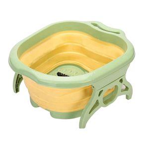 Faltbare fuß einweichen badewanne eimer fuß spa mit 6 fuß massage rollen langlebig klapp Farbe Gelb