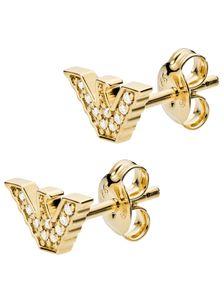 Emporio Armani EG3423710 Damen Ohrstecker Gold Weiß