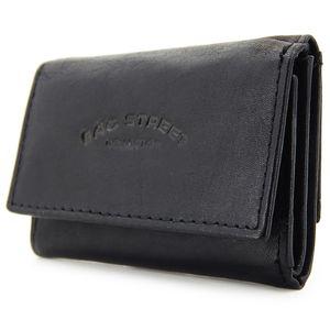 Klein Leder Geldbeutel - Slim Wallet Minibörse für Herren Geldbörse Portemonnaie - Schwarz