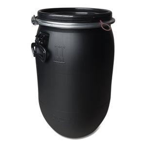 60 Liter Deckelfass, Kunststofffass, Fass, Weithalsfass Farbe schwarz (60 D sw)