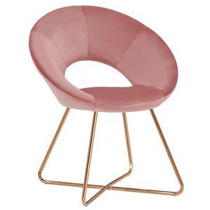 Duhome Konferenzstuhl Besucherstuhl Esszimmerstuhl Samt Rosa Pink