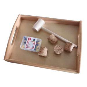 Hammerspiel Nagelspiel Holzspielzeug zur Verbesserung der Auge und Hand Koordination